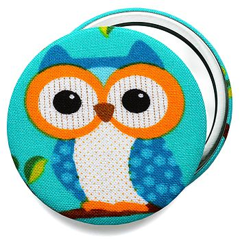 Blue Owl Compact Mirror