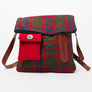 Harris Tweed Dog Walker Bag - dogs