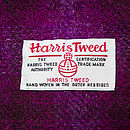 Harris Tweed Orb label, sewn on each Harris Tweed Dog Walker's Bag
