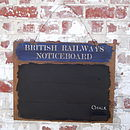 British Railways Wooden Chalk Board