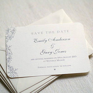 Vintage Lace Wedding Save The Date Cards - wedding stationery
