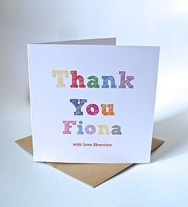 Personalised Thank You Card - thank you cards