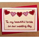 Personalised Bunting Wedding Day Card