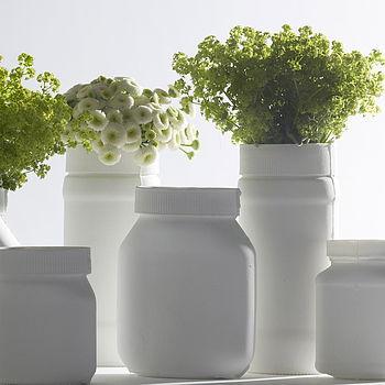 Medium and 2 tall jars