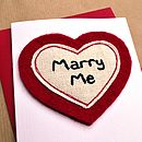 'Marry Me' Marriage Proposal Engagement Card