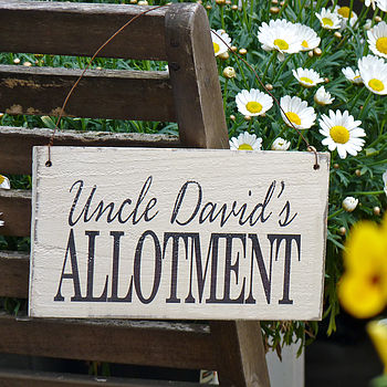 Personalised Allotment Sign