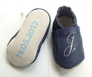 Personalised Baby Shoe With Birth Details - socks, tights & booties