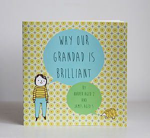 Personalised 'Why Grandad Is Brilliant' Book - best personalised gifts