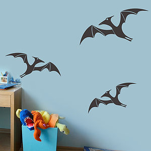 Pteradactyl Pack Of Wall Sticker Decals