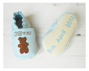 Personalised Baby Boy Bear Shoes - socks, tights & booties