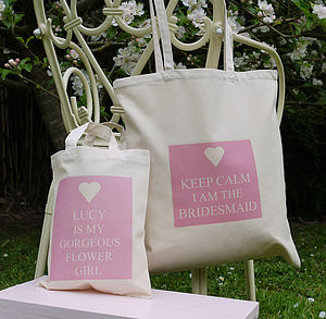 Personalised Bridesmaid & Flower Girl Bags - table decorations
