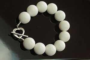 Pure White Coral Bracelet - women's jewellery