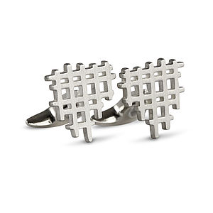 Jagged Portcullis Cufflinks - for him