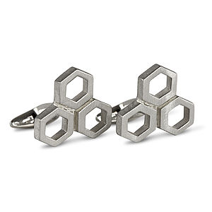 Hexagon Cufflinks - cufflinks