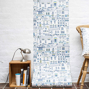 Coastal Cottages Wallpaper Sample - home accessories