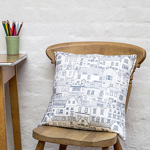 Coastal Cottages Cushion - cushions
