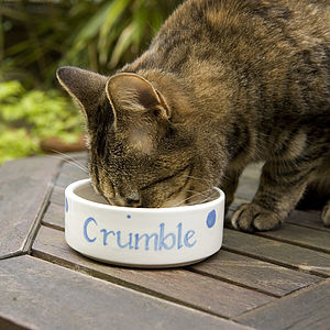 Small Personalised Pet Bowl - home & garden