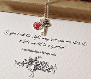 The Secret Garden Key Necklace - necklaces & pendants