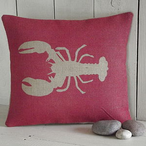 ' Lobster ' Cushion - patterned cushions