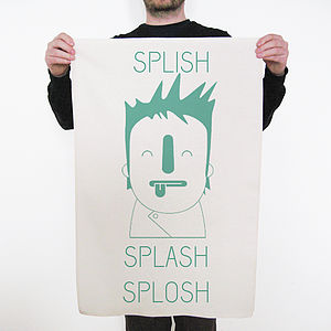 'Splish Splash Splosh' Tea Towel - kitchen
