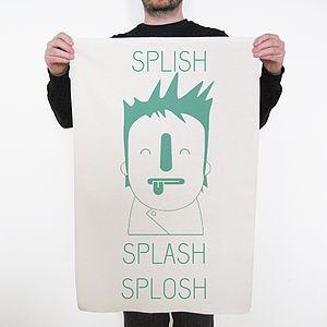 'Splish Splash Splosh' Tea Towel
