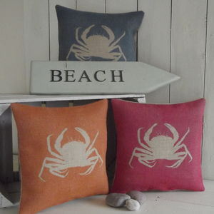 ' Crab ' Cushion - patterned cushions