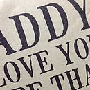 Personalised 'Daddy I Love You' Cushion