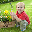 Personalised Kid's Planting Crate