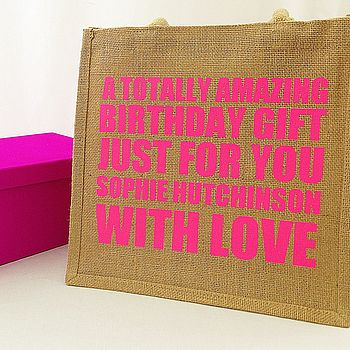 Personalised Neon Gift Bag