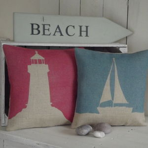 ' Boat ' Cushion - patterned cushions
