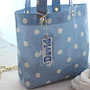 Blue spot nappy bag