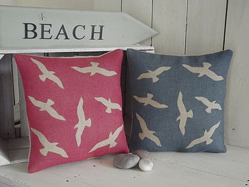 ' Seaside Seagull ' Cushion