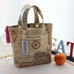 Personalised Oilcloth Lunch Bags