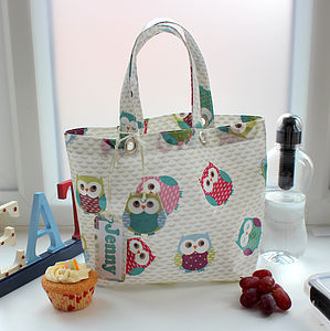 Olly Owl Oilcloth Lunch Bag - picnics & barbecues