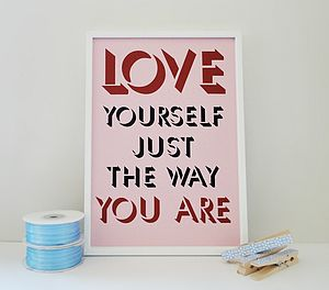 'Love Yourself' Typography Art Print