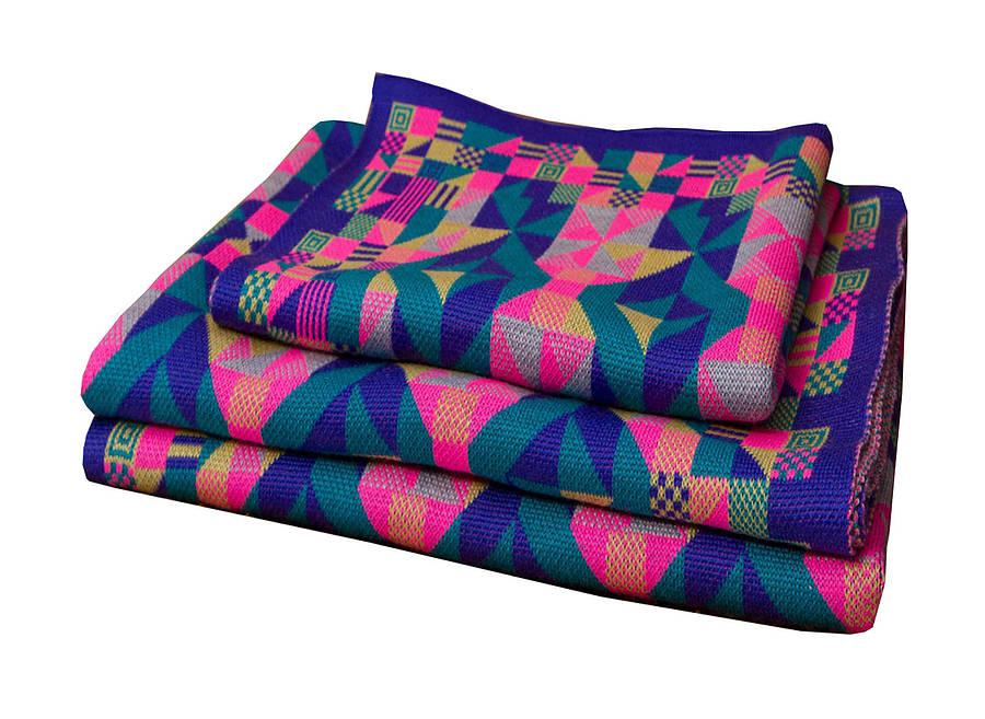 machine knitted merino cot blanket by sarah elwick knitwear notonthehighstr...