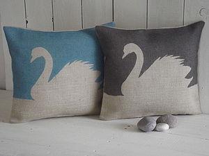 ' Swan ' Cushion - cushions