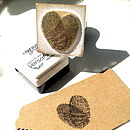 Personalised Fingerprint Heart Stamp