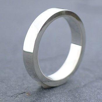 Mens Chunky Silver Ring