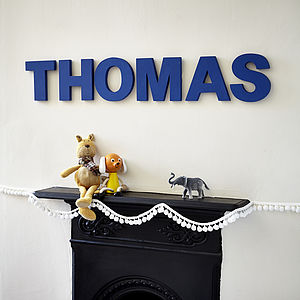 Handmade Personalised Letter - children's room accessories