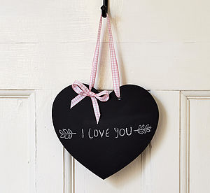 Handmade Heart Chalkboard - noticeboards
