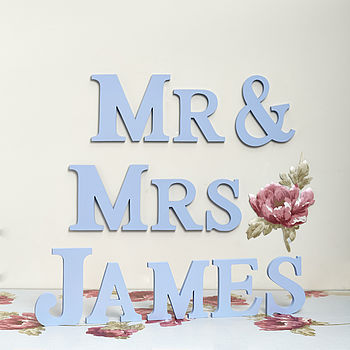 Pastel Blue Mr & Mrs James