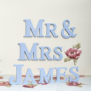 Handmade Personalised Mr & Mrs Letters - decorative letters