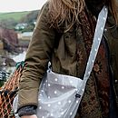 Oilcloth Vintage Inspired Across Body Bag