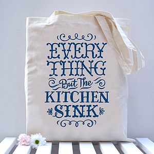 'Everything But The Kitchen Sink' Tote Bag - bags, purses & wallets