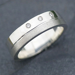 Handmade Men's Chunky Diamond Ring - wedding jewellery