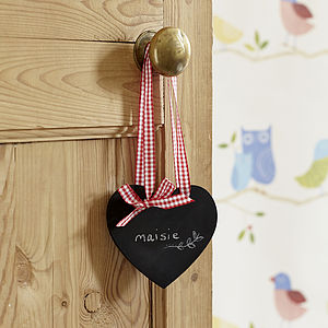 Mini Heart Chalkboard - table decorations
