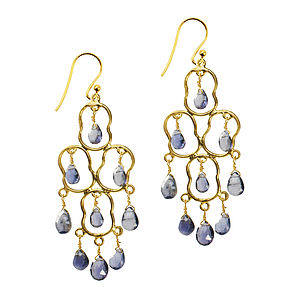 Kesia Earrings Gold And Iolite