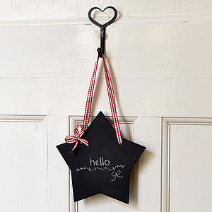Star Chalkboard - kitchen