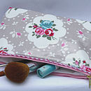Oilcloth Vintage Large Cosmetic Bag